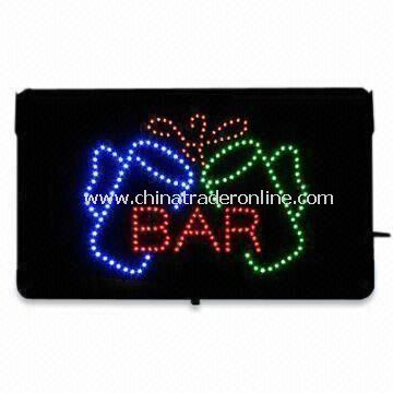 LED Sign and Logo Board, CE/RoHS/UL Approved, Customized Designs, Colors and Sizes Available