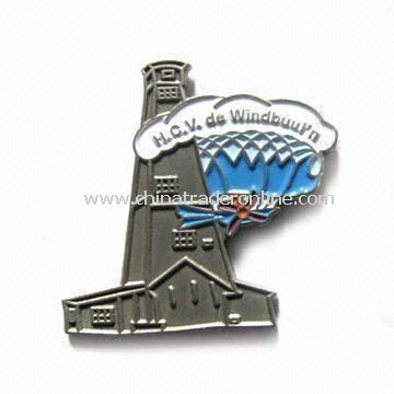 Metal Lapel Pin, Custom-made, Available in Different Colors and Sizes