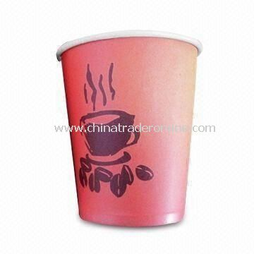 Paper Disposable Cup, Made of Different Materials, Customized Sizes are Accepted