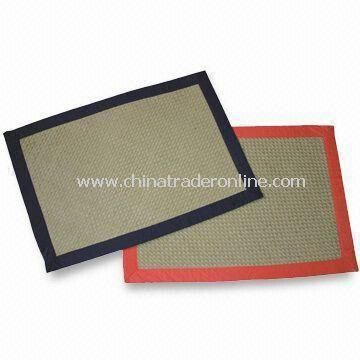 Paper Placemats with Diagonal Stitching Rim, Available in Various Colors
