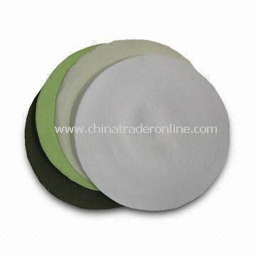 Paper Straw Placemats with 38 and 40cm Diameter, Various Colors are Welcome