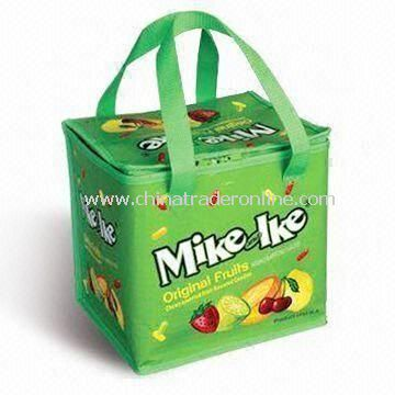 Picnic Cooler Bag, Made of Printed PE, OEM Orders are Welcome, Suitable for Promotional Purposes