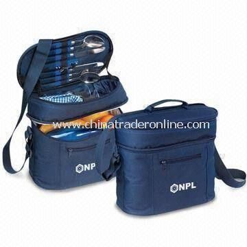 Picnic Cooler Bag with Adjustable Shoulder Straps, Made of 600D Polyester from China