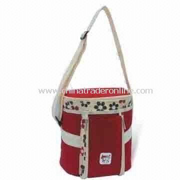 Picnic Cooler Bag with White PEVA Lining, Webbing Handle