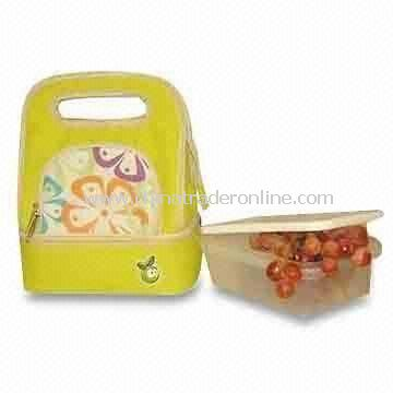 Picnic Lunch Cooler Bag, Made of Printed 600D Polyester with PEVA Lining