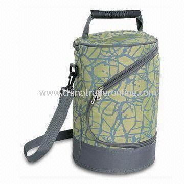 Picnic Wine Cooler Bag with White PEVA Lining, Suitable for Four Persons