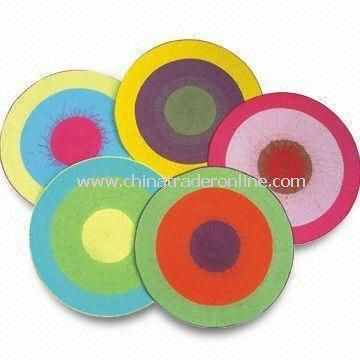 Placemats, Made of 100% Paper and Cotton, Available in Various Colors