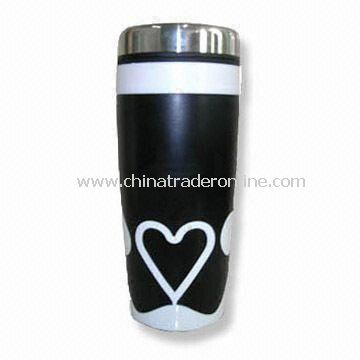 Plastic Cup with Waterproof Lid and 16oz Capacity