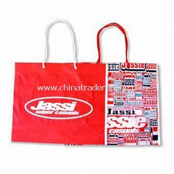 Plastic Hand Bag with Printed Logo, Measures 30 x 40cm