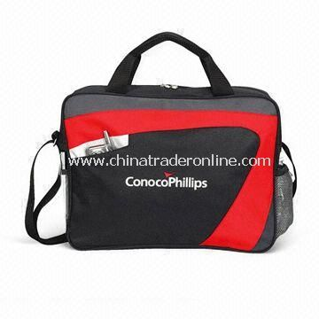 Promotional Swoosh Briefcase with Adjustable Shoulder Strap, Made of 600D Polyester and Canvas