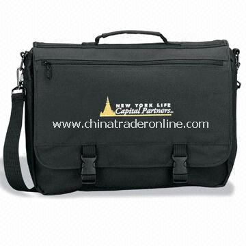 Promotional Typhoon Deluxe Briefcase with Carry Handle, Made of 600D Polyester
