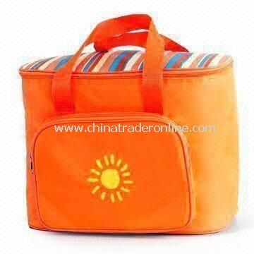 PVC Lining Portable Picnic Cooler Bag, Made of 70D Nylon with Front Picket, OEM Orders are Welcome