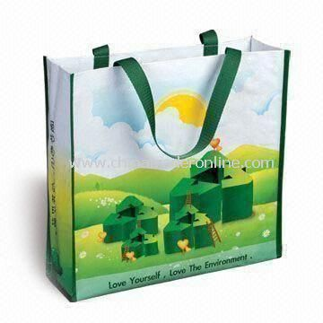 Recyclable Color Printed Bag, Made of Nonwoven PP Material, Customized Designs are Accepted