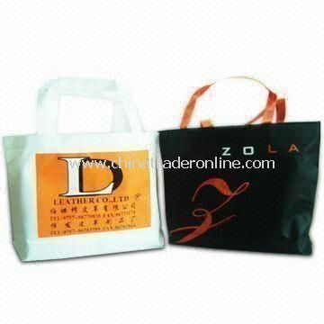 Recyclable Color Printed Bag, Measuring 35.5 x 28 x 8cm, Made of Nonwoven PP Material