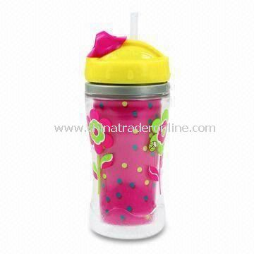 Straw Cup, Made of Plastic Cup with Hard Mold Straw