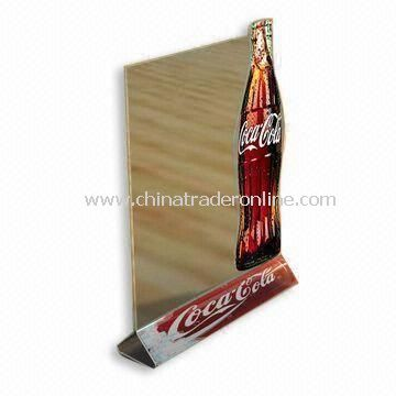 Table Tent/Menu Holder, Made of Acrylic, Suitable for Advertisement and Display