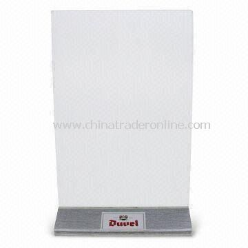 Table Tent/Menu Stand with Heat Transfer Printing, Suitable for Advertisement and Display