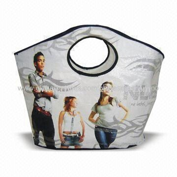 Tote Bag, Made of Printed OPP Film Laminated PP Woven Fabric, Measures 45 x 30cm