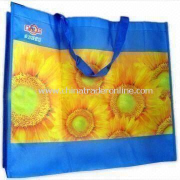 Waterproof Recyclable Color Printed Bag, Measuring 40 x 40 x 20cm, Made of Nonwoven PP Material