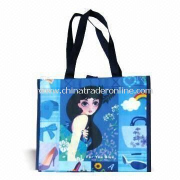 Woven PP Retail Paper Bag with Printed Design and Glossy/Matte Lamination Finish