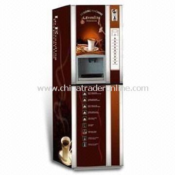 Coin Operated Coffee Vending Machine with Infrared Ray Cup Detector and Automatic Dispenser