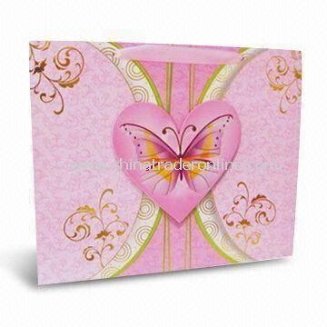 Eco-friendly Fashionable Paper Gift Bag for Valentines Day or Promotional