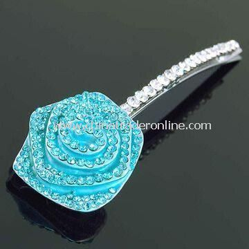 Fashionable Hair Clip, Customized Designs are Accepted, Made of Rhinestones and Enamel