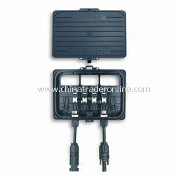 High-power Solar Junction Box with 1,000V Rated Voltag eand IP65 Protection Grade
