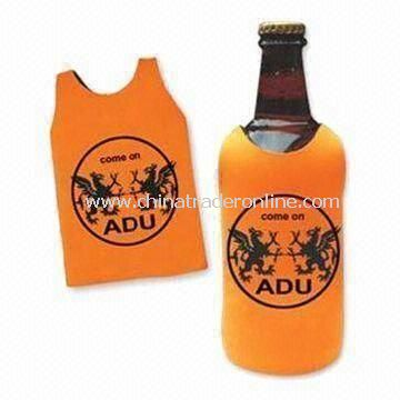 Jersey Bottle Cooler Sleeve, Made of Neoprene, Keeps Drinks Chilled