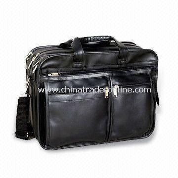 Laptop Bag in Fashionable and Trendy Design, Made of Leather