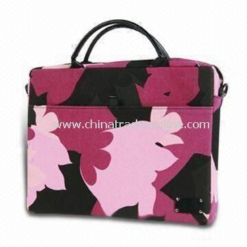 Laptop Bag with Side Pocket for Phone, Full Contrast Organizer, Made of 600D Polyester