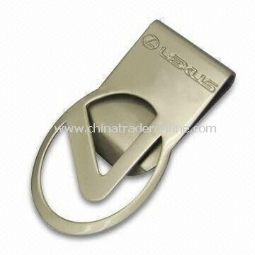 Money Clip with Delicate Logos in Different Shapes, Made of Brass, Customized Designs Welcomed