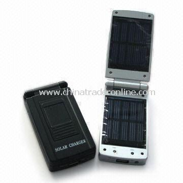 Portable Solar Mobile Battery/Charger with 5.5V/120mA Panel and 300 to 550mA Output Current