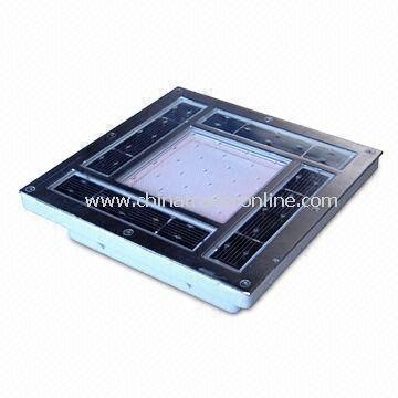 Solar Brick Light with Stainless Steel Frame, Measuring 200 x 200 x 45mm