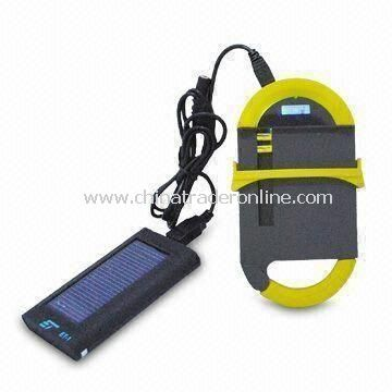 Solar Charger for Apples iPhone/iPad with Unique Bag Hook, Measuring 7.5 x 14.5 x 2cm