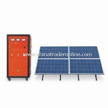 Solar Generator System with 300W Power, 110/220V AC Output Voltage, 50/60Hz Frequency