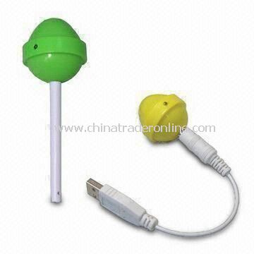 USB Power Lollipop Speakers for Apples iPad/iPhone, with LED Indicator Design and 3.5mm Plug