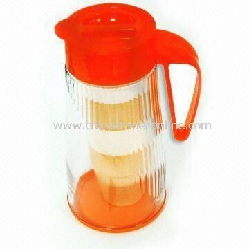 Water Jug/Bottle with 1.6L Capacity, Available in Orange, Made of PS, Airtight Food Container
