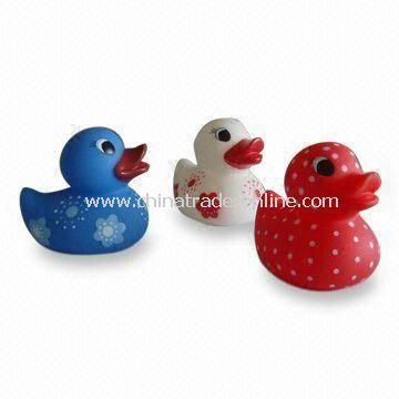 Cute Rubber Bath Toys, Ideal for Promotions and Gifts, Customized Shapes are Accepted