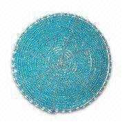 Glass Beaded Wired Coaster, Available in Various Colors and 4 Inches Diameter