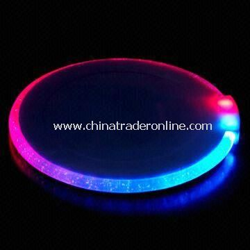 LED Flashing Light Up Coaster, for Bar and Promotional Gifts