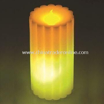 LED Wax Candle with Sticker Logo, Ideal for Promotional Gifts, OEM Accepted