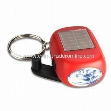 Mini Solar LED Keychain, Ideal for Promotional Electronic Gift, Controlled by Slide Switch