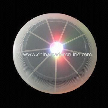 Multi-color Flashing Frisbee Toy with LED Flying Disk and Large Logo Space