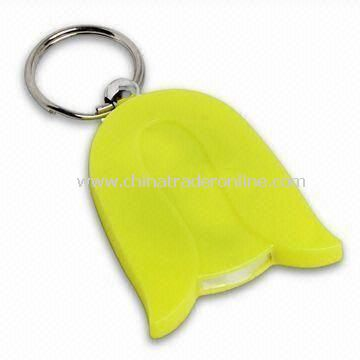 Novelty LED Keychain, Made of Plastic, Ideal for Promotion Gifts