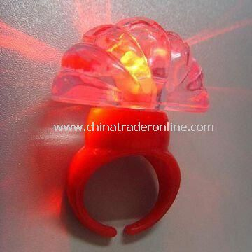 Novelty LED Ring, OEM Orders are Welcome, Ideal for Promotional Gifts