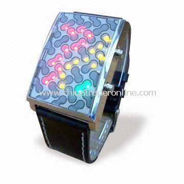 Promotional LED Bangle Watch, Customized Colors and Logos are Welcome, Ideal for Gifts