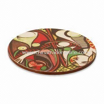 PVC Coaster, Available in Various Patterns and Sizes, Customized Specifications are Welcome from China