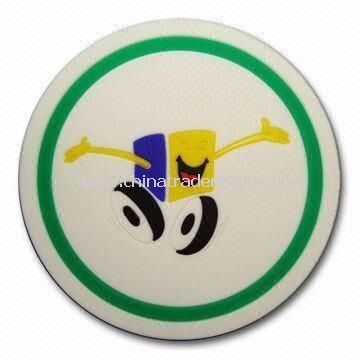Round PVC Coaster, Available in Various Colors, Customized Sizes are Welcome from China
