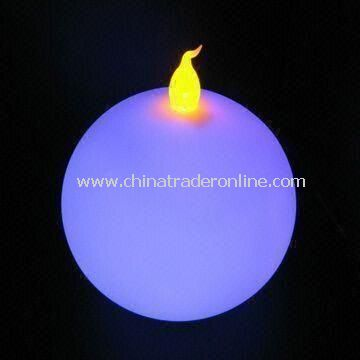 Round-shaped LED Candle, Available in Various Colors, Ideal for Parties and Promotional Gifts